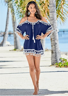 boho tassel tunic cover-up