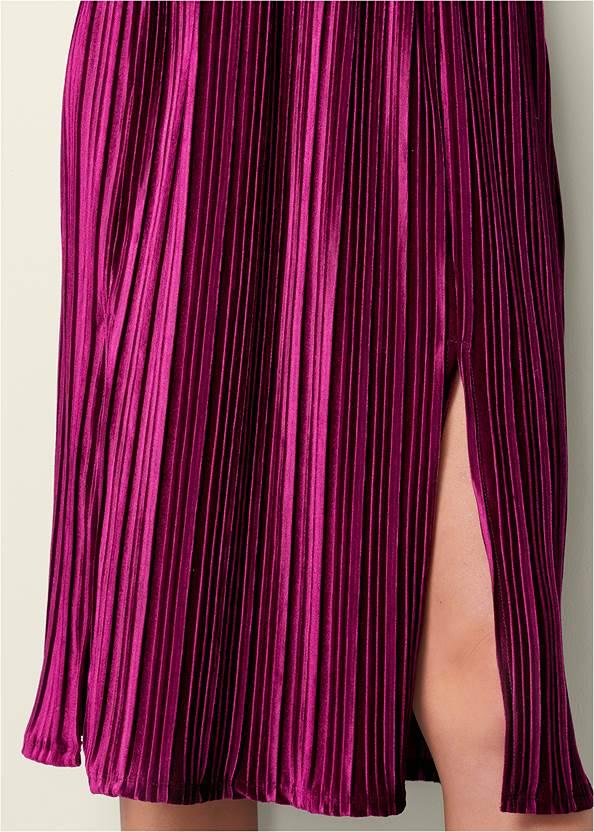Alternate View Velvet Pleated Dress