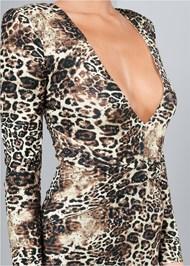Alternate View Plunging Neckline Dress