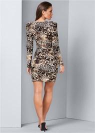 Back View Plunging Neckline Dress
