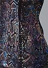 Alternate View Metallic Snake Print Top