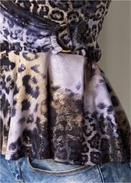 Alternate View Leopard Print Peplum Top