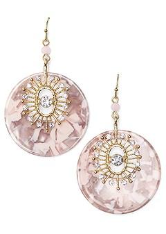 circle statement earrings