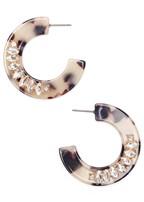 embellished resin earrings