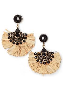 raffia statement earrings