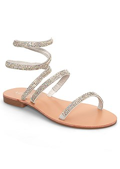 sparkle wrap up sandals
