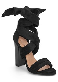 Front View Wrap Around Heels