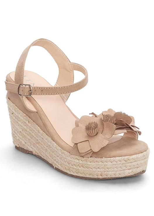 FLOWER DETAIL WEDGES