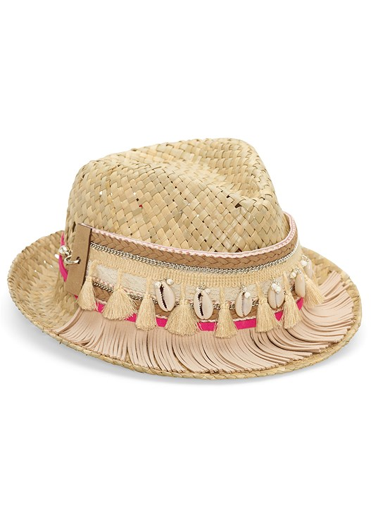 TASSEL TRIM HAT