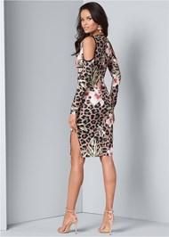 Back View Animal Print Bodycon Dress