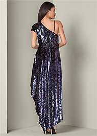 Back View Sequin High Low Dress