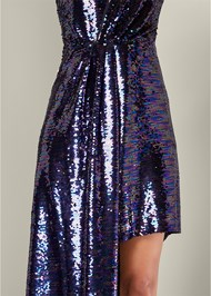 Alternate View Sequin High Low Dress