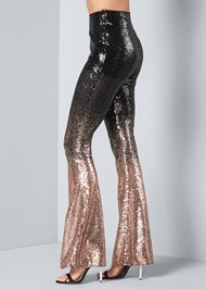 Back View Sheer Ombre Sequin Pants