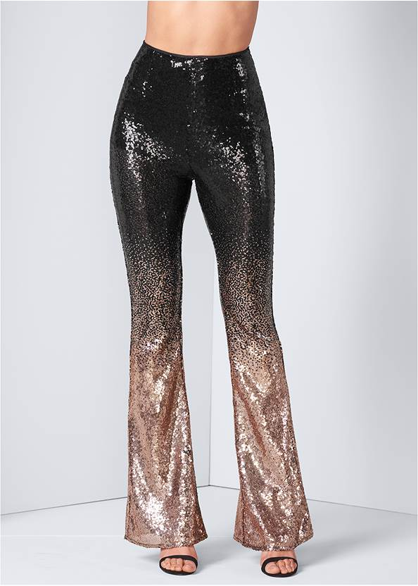 Alternate View Sheer Ombre Sequin Pants