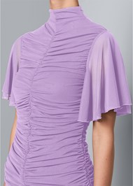Alternate View Ruched Mesh Top