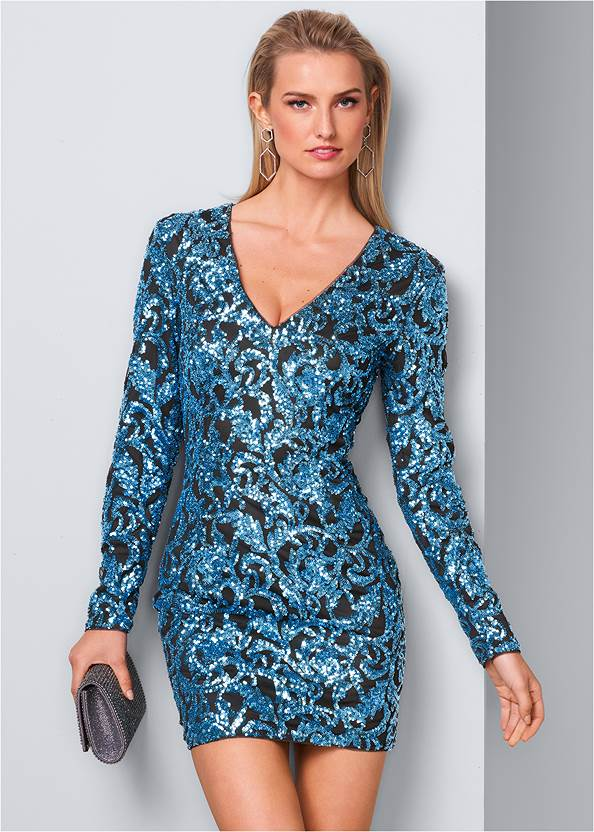 Front View Sequin Dress