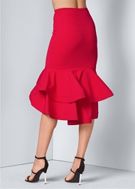 Alternate View Peplum Midi Skirt