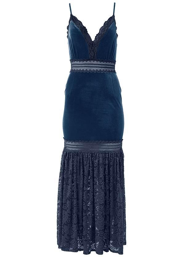 Alternate View Velvet And Lace Dress