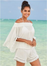 Front View Boho Cover-Up Top