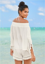 Back View Boho Cover-Up Top