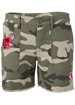 plus size camo shorts