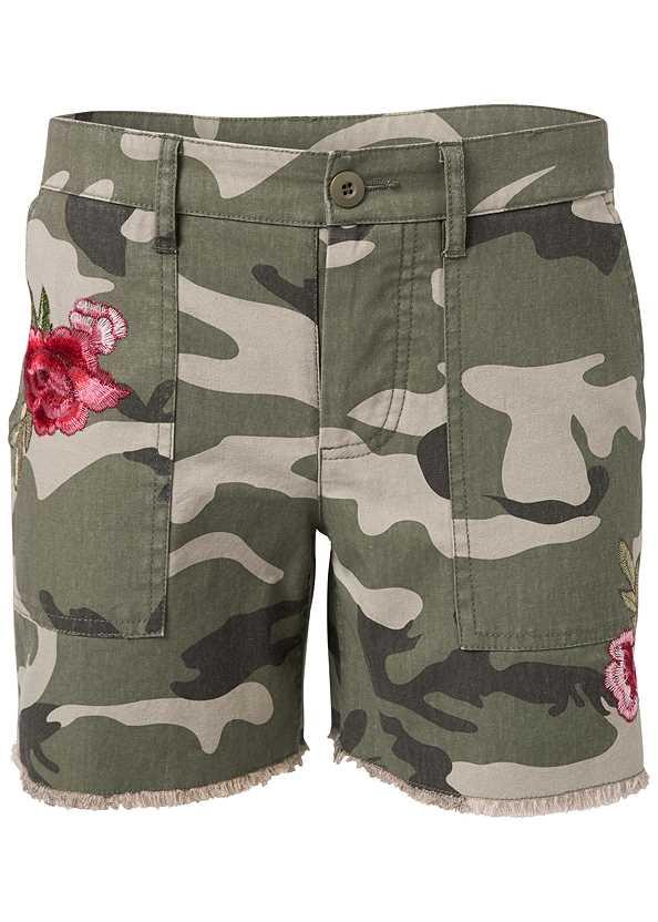 Camo Shorts,Square Neck Tank Top