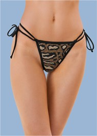 Detail front view Sequin Thong Bottom
