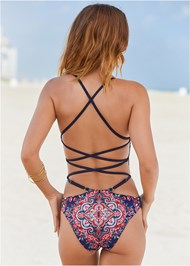 Cropped back view Lillian Monokini