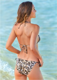 Back View Triangle String Bikini Top