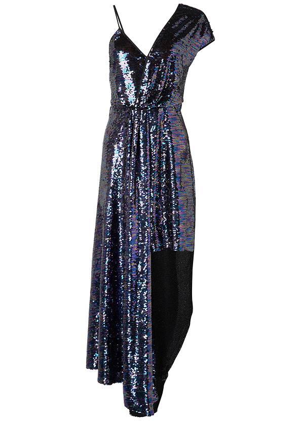 Alternate View Sequin High Low Dress