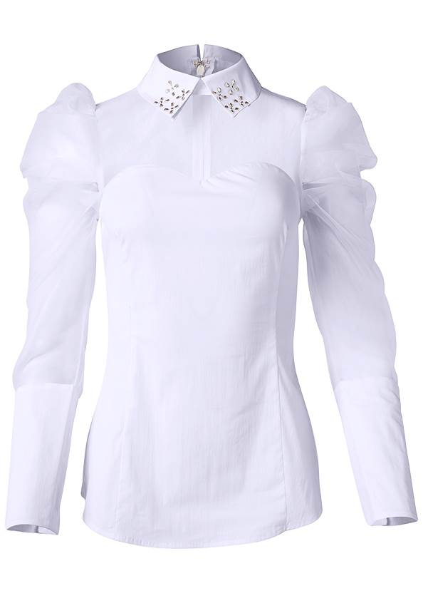 Alternate View Puff Sleeve Blouse