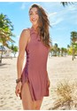 Front view Lace Up Cover Up Dress