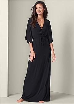 kimono sleeve sleep dress