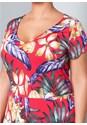 Alternate View Floral Surplice Dress
