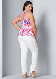 Back View Open Back Print Top