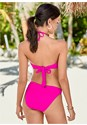 Full back view High Neck Keyhole Top