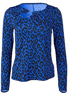 plus size leopard print ring top