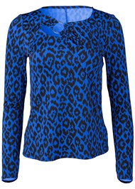 Alternate View Leopard Print Ring Top