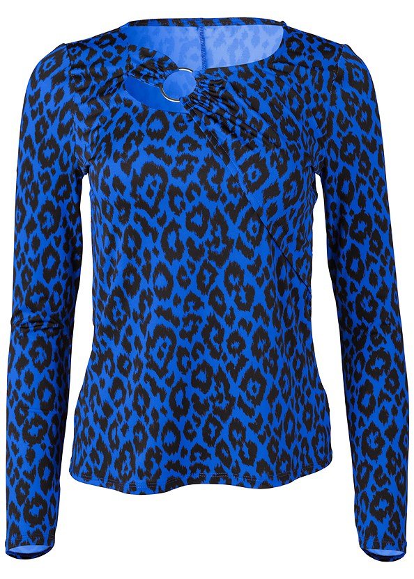 Leopard Print Ring Top,Bum Lifter Jeans,Lucite Detail Heels,Hoop Detail Earrings,Lurex Detail Scarf