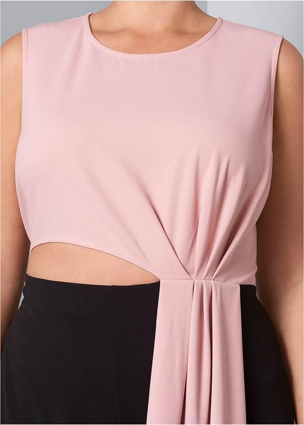 Alternate View Drape Cut Out Jumpsuit