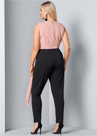 Back View Drape Cut Out Jumpsuit
