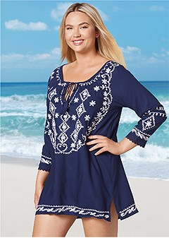plus size sequin detail cover-up