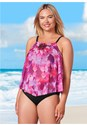 Front View Mesh Tankini Top