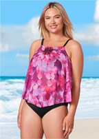 plus size mesh tankini top