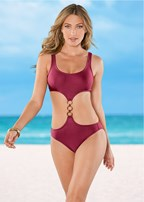 three ring monokini