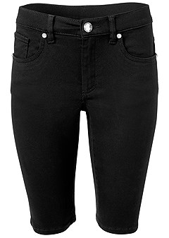 plus size long jean shorts
