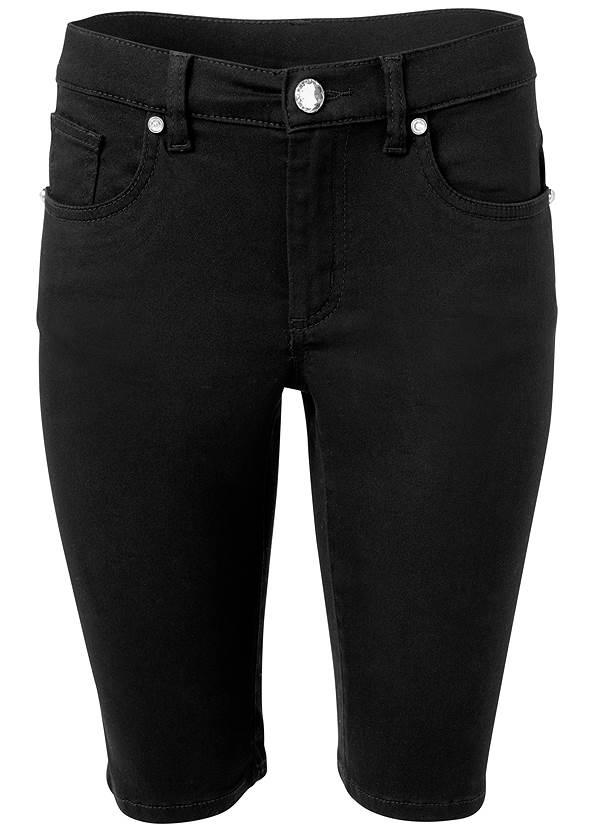 Long Jean Shorts,Knot Front Sleeveless Top