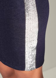 Alternate View Sequin Stripe Lounge Dress