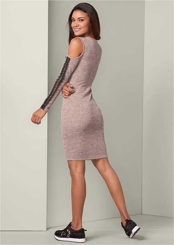Back View Sleeve Detail Lounge Dress