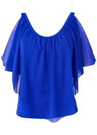 Ghost with background  view Mesh Ruffle Tankini Top
